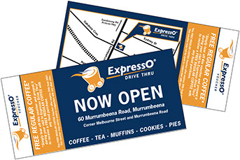expresso drive through dl cards