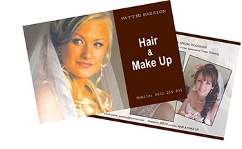 hair and make up postcards